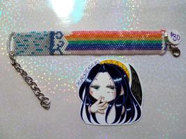Rainbow after the Rain Handmade Flat Bracelet - $30.00