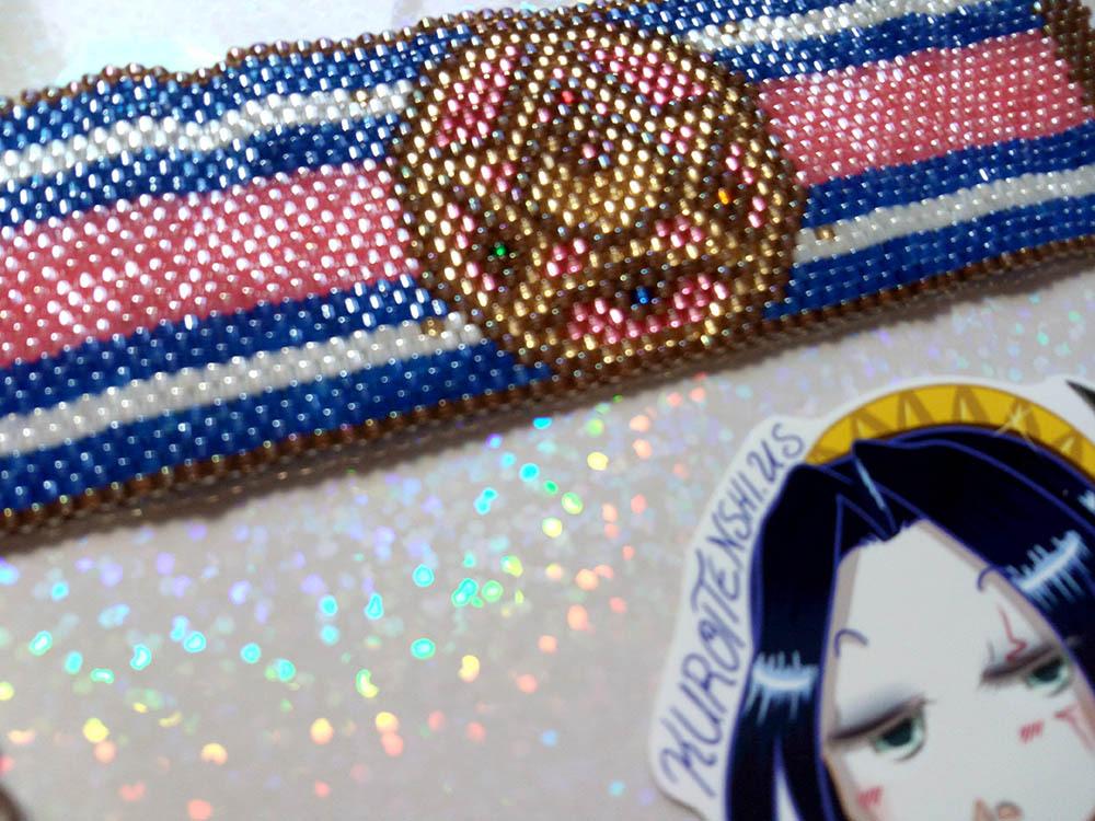 SM R Compact Handmade Flat Bracelet