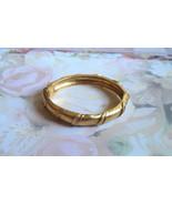 """Vintage Hinged Goldtone Cuff Bracelet 7"""" Vintag... - $10.00"""