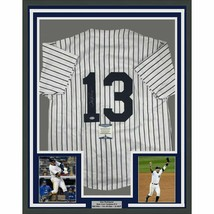 FRAMED Autographed/Signed ALEX RODRIGUEZ 33x42 New York Pinstripe Jersey... - $499.99