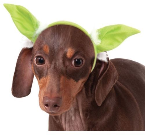 Star Wars Yoda Pet Costume Dog Headpiece - Small/Medium Rubies 888250