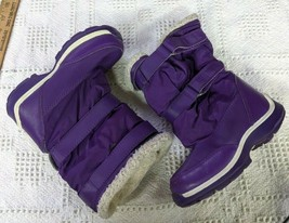 Lands' End Youth Adolescent Girls Winter Insulated Boots Purple Size 9 M - $13.95