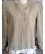 Vintage Suede Beige Jacket, Size Womens 10, Vin... - $12.50