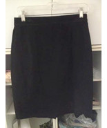 Vintage Black Suede Slim Mini Skirt, Black Sued... - $32.00