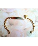 Vintage Gold Plate ID Bracelet, Ann Script Sign... - $20.00