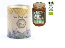 Organic Pine Raw Honey Canister 400gr from Pine Forest Arcadia&Eboea NEW... - $16.90