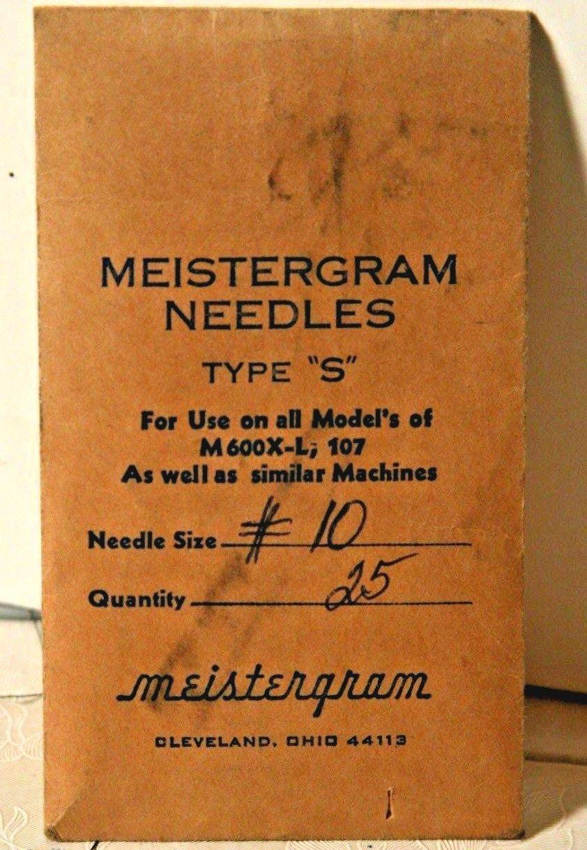 25 MEISTERGRAM INDUSTRIAL EMBROIDERY MACHINE NEEDLES 10 NP 70/10 XL XLM XLC 2000 - $8.42