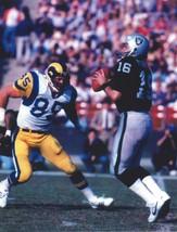 Jim Plunkett 8X10 Photo Oakland Raiders La Picture Vs Rams - $3.95