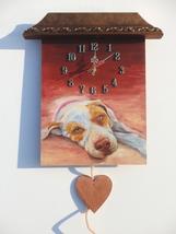 Custom PAINTED CLOCK, Dog clock, Custom Pet portrait, Wall clock, Person... - $60.00