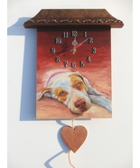 Custom PAINTED CLOCK, Dog clock, Custom Pet portrait, Wall clock, Person... - $60.00