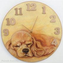 CUSTOM PAINTED CLOCK, PET MEMORIAL, Hand made Wall Clock, Dog portraitl,... - $60.00