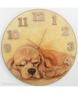 CUSTOM PAINTED CLOCK, PET MEMORIAL, Hand made Wall Clock, Dog portraitl,... - $60.00