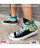 The Walking Dead Sneakers Custom Zombies Hand Painted Shoes Converse All Star - $139.00