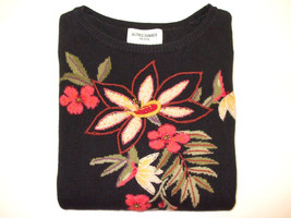 Alfred Dunner (Short Sleeve) Floral Sweater (55% Ramie / 45% Cotton) - P... - $23.00