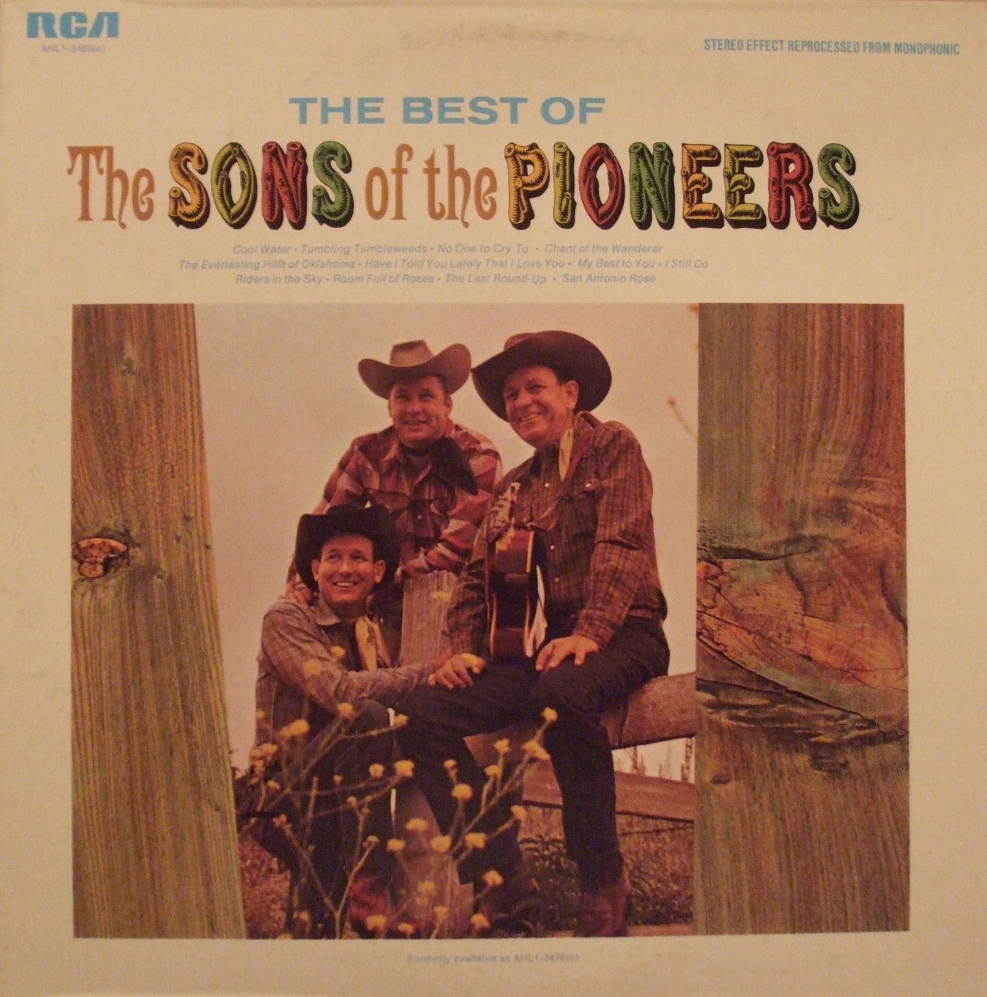 The Sons of The Pioneers (THE BEST OF) Vinyl Record Album 1966 RCA - Stereo