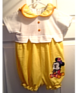 Minnie Mouse Girls 24 Months Light Yellow Orange One Piece Romper NWT - $14.99