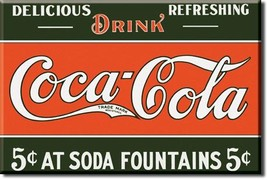 Refrigerator Magnet Drink Coca-Cola 5 cent at S... - $3.25