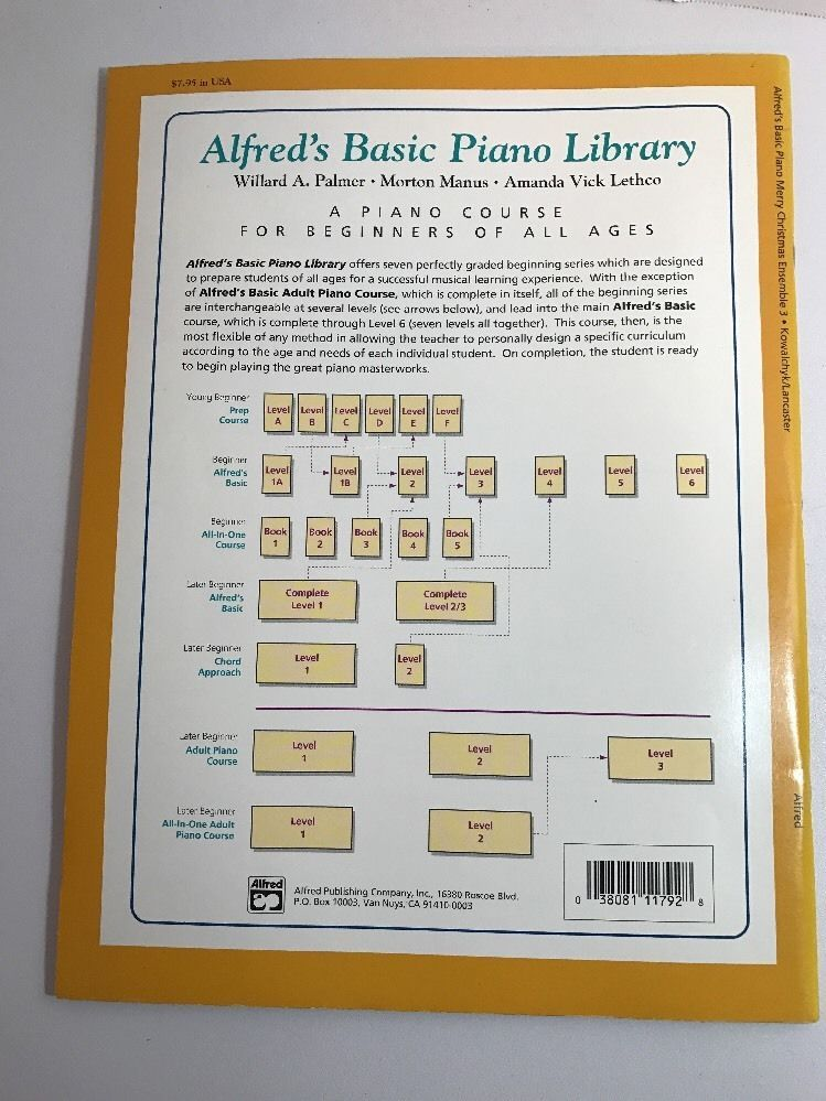 Alfred Piano Merry Christmas Ensemble Book Level 3 Keyboard