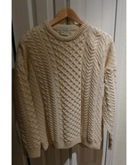 Aran Isles Knitwear Made in Ireland 100% Merino Wool Sweater Beautiful D... - $83.20