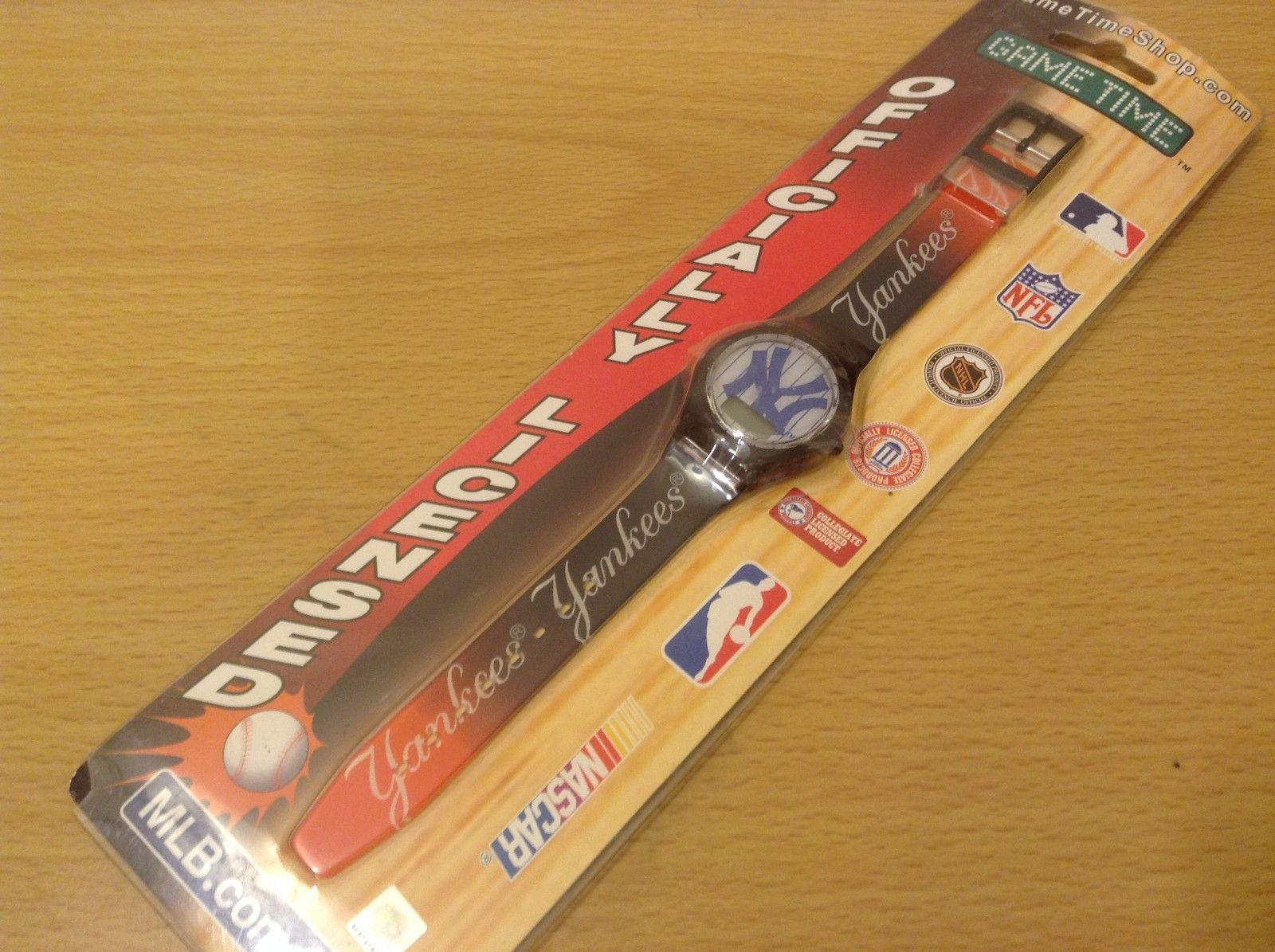 Game Time MLB Officially Licensed NY Yankees Wrist Watch NEW