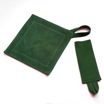 All Purpose Leather Suede Trivet/Pot Holder & Handle Holder Combo. Hunte... - $22.53