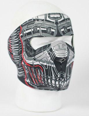Skull Freddy Shark Kylo Reversible Biker Motorcycle Neoprene Full Face Ski Mask