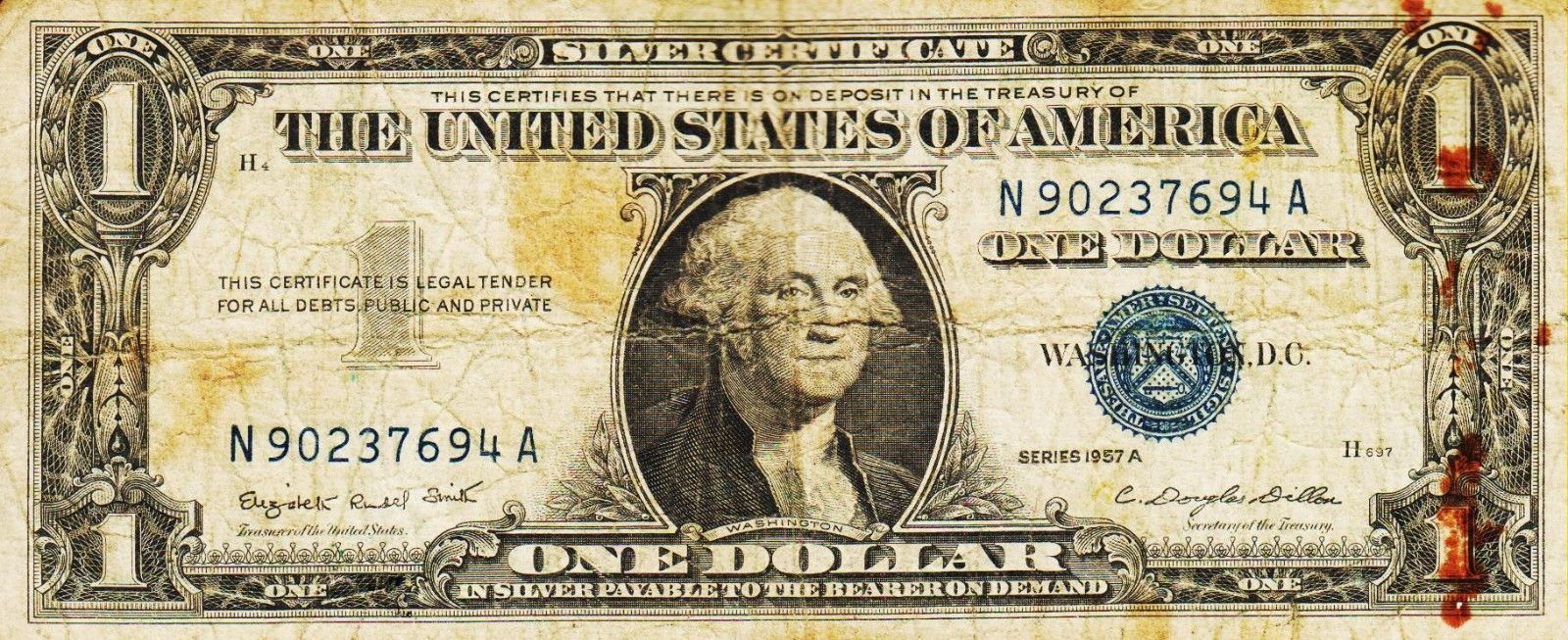 certificate dollar 1957 silver series circulated condition certificates sold