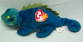 "Ty Beanie Babies Iggy The Blue & Green Chameleon 9"" Bean Bag Stuffed Animal New - $14.85"