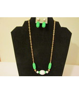 "Retro/Vintage Avon ""Come Summer"" Necklace & Convertible Pierced Earrings... - $10.99"