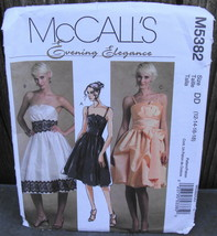 McCall's Evening Elegance Dress Pattern M5382 Size 12-18* - $18.00