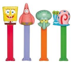 12 Spongebob Pez, Each With 2 Packs Of 6 Rolls Pez Candy Refills - $26.72