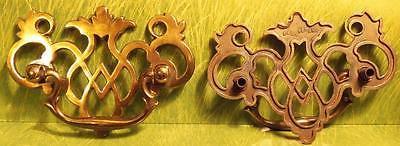 Nice Vintage Polished Brass Filigree Drawer Dresser Pull Handle Different Style - $30.00