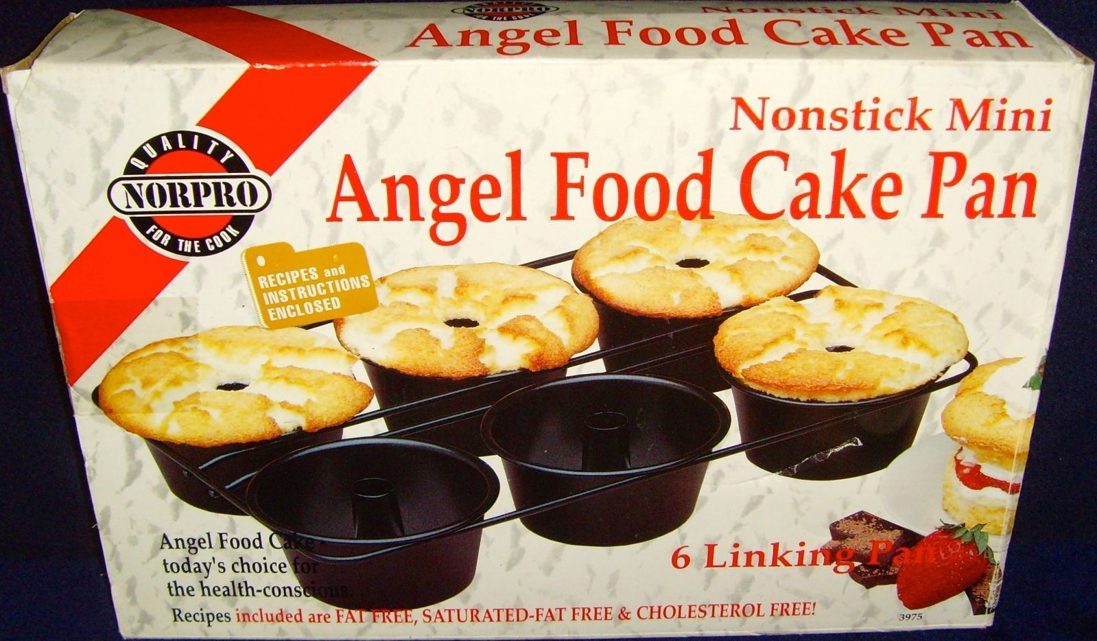 Brand New In Box Norpro Nonstick Mini Angel Food Cake Pan