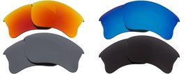 New SEEK Replacement Lens Oakley HALF JACKET 2.0 Polarized Black Silver Red Blue - $52.05