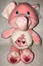 """Care Bear Cousins PINK LOTSA HEART ELEPHANT 10"""" Plush STUFFED ANIMAL Toy... - $14.99"""