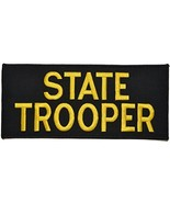 State Trooper - 4x9 Morale Patch - Black with Yellow - $25.47