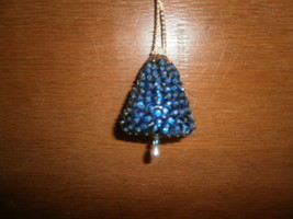 Blue Bell , Sequines and Beads Christmas Ornament - $5.00