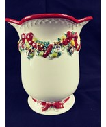 """Waterford Holiday Heirlooms Christmas Memories Vase H6.25"""" x 5.5""""W Holid... - $22.96"""