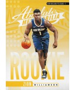 Zion Williamson Absolute Memorabilia 19-20 #1 Rookie Card Yellow New Orleans  - $9.50