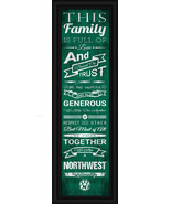 "Northwest Missouri State University Bearcats - 24x8 ""Family Cheer"" Frame... - $39.95"