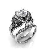Skull Engagement Ring Set in 10 k Gold White Mo... - $1,295.00