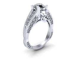 Skull Engagement Ring 10 k Gold Over - $279.00