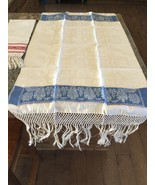 Table Runner Made In Italy Blue Ivory Mother's Day Idea  - $42.50