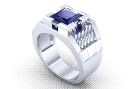 Men's Sapphire Spike Ring in 10 k Temple of the... - $1,595.00
