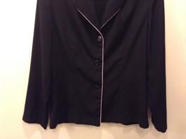 Moving On 100% Polyester Black Button Up Blazer Size 12 image 3
