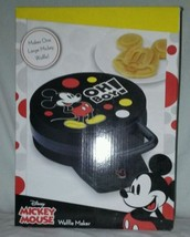 Disney Mickey Mouse Non-Stick Electric Waffle Maker, Red and Black - €30,55 EUR