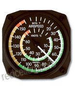 Trintec Aviation Airspeed Indicator Wall Fahrenhellt/Celsius Thermometer... - $30.37
