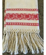 Table Runner Made In Italy Red Ivory Mother's Day Idea  - $42.50