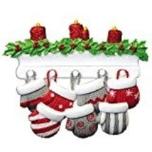 MITTEN FAMILY OF 7 PERSONALIZED HOLIDAY CHRISTMAS TREE ORNAMENT HOLIDAY ... - $9.83