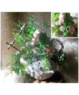 Succulent and Shell Arrangement, Washed Ashore, OOAK Vintage Ceramic Sea... - $62.00